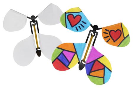 Papillons volants à décorer - 10 pcs - Compliments, cartes... – 10doigts.fr