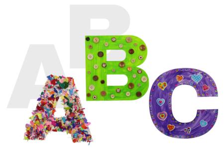 Grandes lettres de l'alphabet en carte forte - Coloriages – 10doigts.fr