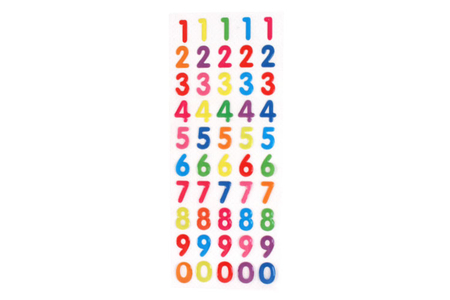 Stickers chiffres en epoxy - Stickers en plastique – 10doigts.fr