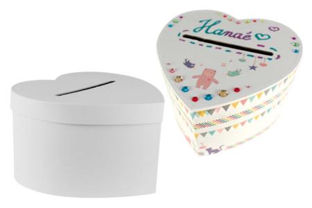 Urne coeur en carton blanc - Boîtes en carton – 10doigts.fr