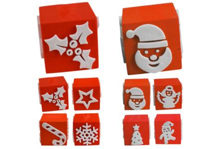 Tampons cubes motifs de Noël - Set de 2 - Tampons – 10doigts.fr