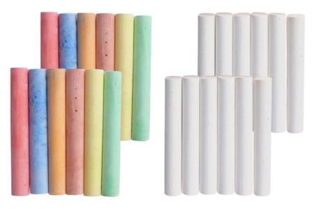 Craies blanches et couleurs - Craies – 10doigts.fr