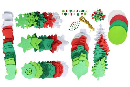 Méga pack formes de Noël à décorer et à suspendre - Décoration du sapin – 10doigts.fr