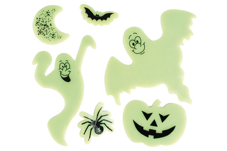 Stickers Phosphorescents pour fenêtres - Set de 6 - Halloween – 10doigts.fr