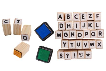Tampons alphabet + 2 encreurs - Tampons – 10doigts.fr