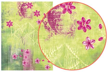 Décopatch N° 384 - Set de 3 feuilles - Fleurs – 10doigts.fr