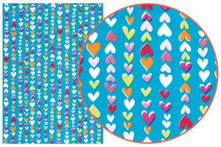Papier Décopatch Coeurs - 3 feuilles  N°410 - Papiers Décopatch – 10doigts.fr