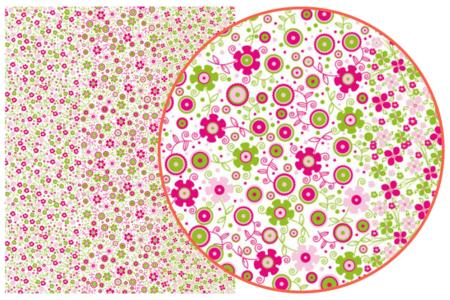 Décopatch N° 571 - Set de 3 feuilles - Fleurs – 10doigts.fr