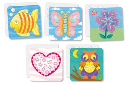 Set de 10 puzzles en carton blanc à colorier - Puzzles à colorier, dessiner ou peindre – 10doigts.fr