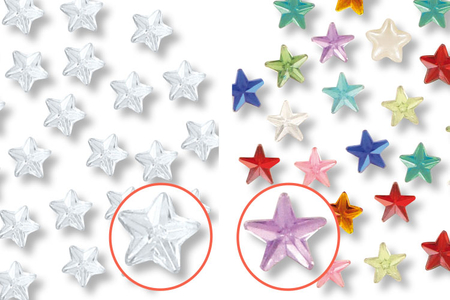 Strass adhésifs étoiles - 72 pièces - Strass autocollants – 10doigts.fr