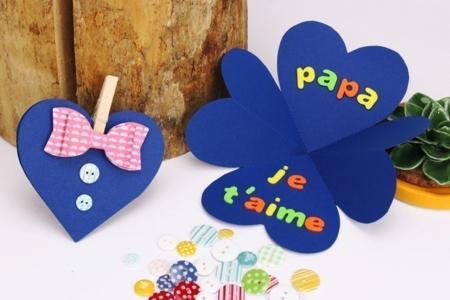 Carte chemise coeur - Fête des Pères – 10doigts.fr