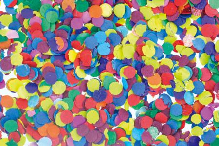 Confettis multicolores - Set de 300 gr - Ballons, guirlandes, serpentins – 10doigts.fr