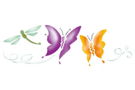 Pochoir frise papillons - Pochoir frise – 10doigts.fr