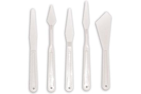 Spatules assorties en plastique - Set de 5 pièces - Outils et accessoires  – 10doigts.fr