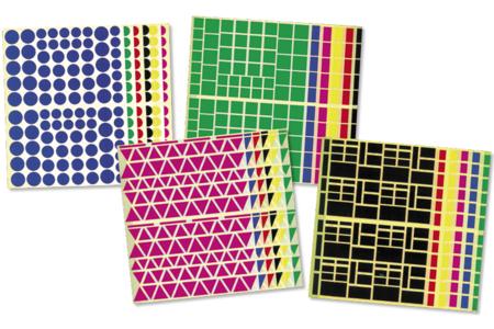 Gommettes géométriques - Set de 10890 - Gommettes géométriques – 10doigts.fr