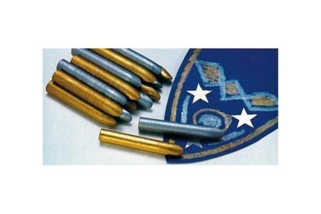 Crayons-cire métallisés or ou argent - Crayons cire – 10doigts.fr