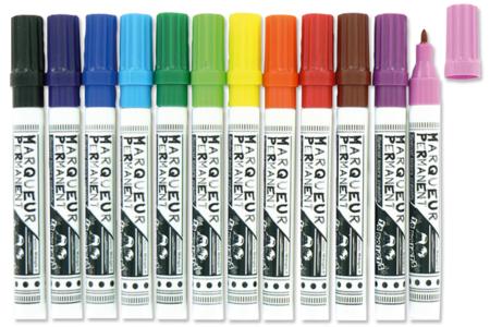 Marqueurs permanents Multi-supports, couleurs assorties - Feutres Marqueurs dessin – 10doigts.fr