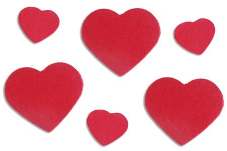 Coeurs rouges en bois - Motifs peint – 10doigts.fr