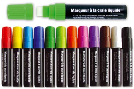 Maxi marqueur craie à valve régulatrice de débit - Craies – 10doigts.fr