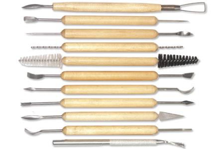Outils pour modelage fin - Set de 11 - Outils de Modelage – 10doigts.fr