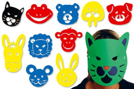 Gabarits pour Masques - Set de 10 Pochoirs Animaux - Masques – 10doigts.fr