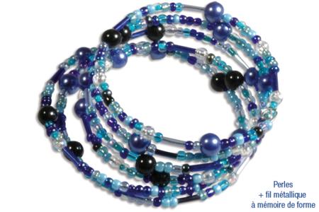 Rocailles en camaïeu de bleues - 7000 perles - Perles de rocaille – 10doigts.fr