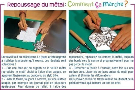 Métal à repousser - Métal à repousser – 10doigts.fr