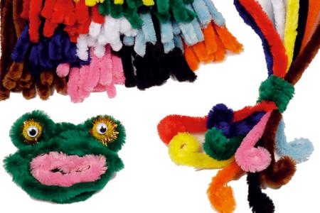 Méga chenilles couleurs vives - Set de 25 - Chenilles, cure-pipe – 10doigts.fr