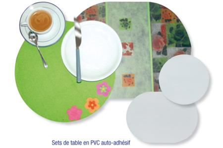 Feuilles en PVC auto-adhésives translucide (Polyphane) - Films et feuilles plastique – 10doigts.fr