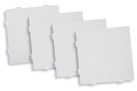 Plaque carrée pour perles fusibles + papier sulfurisé - Perles fusibles 5 mm – 10doigts.fr
