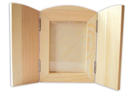 Cadre pliable en bois, avec vitre - Cadres photos – 10doigts.fr