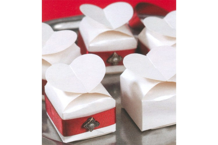 Boîtes à dragées cœur à monter - Lot de 12 - Boîtes à bijoux – 10doigts.fr