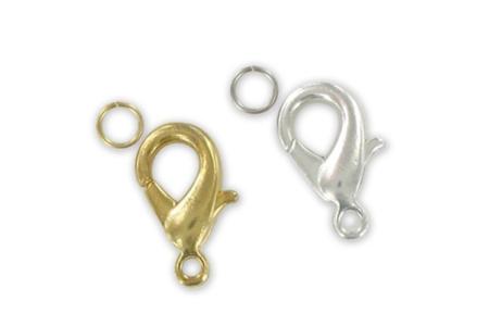 Fermoirs carabine avec anneau, dorés ou argentés - Fermoirs – 10doigts.fr