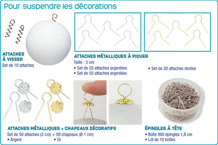Boules en polystyrène - Noël – 10doigts.fr