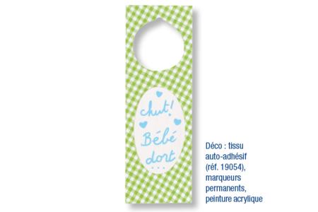 Plaques pour poignée de porte - Lot de 4 - Plaques de porte – 10doigts.fr