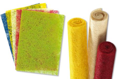 Sisal en feuille couleurs vives assorties - Activités en papier – 10doigts.fr