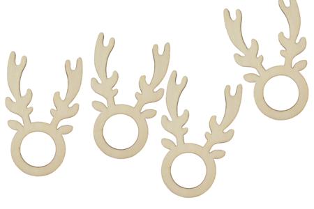 Ronds de serviettes rennes - Lot de 4 - Noël – 10doigts.fr