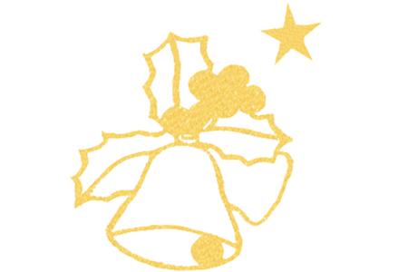 """Stickers Peel Off dorés """"Cloches de Pâques"""" - 14 stickers - Décorations et accessoires de Pâques – 10doigts.fr"""