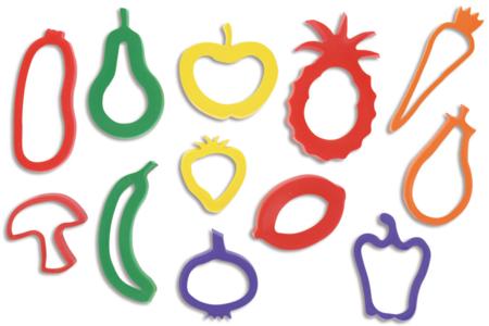 """Emporte-pièces """"Fruits et légumes"""" - Set de 12 - Emporte-pièces – 10doigts.fr"""