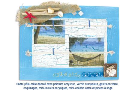 Cadre pêle-mêle en bois - Cadres photos – 10doigts.fr