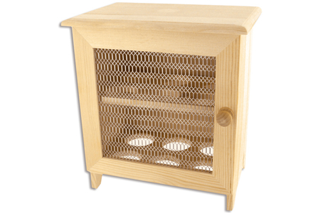 Armoire à œufs en bois avec porte grillagée - Armoires et étagères – 10doigts.fr