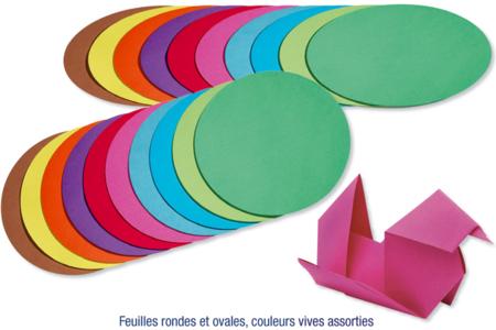 Feuilles couleurs vives Origami - 10 couleurs assortis - Papiers Origami – 10doigts.fr