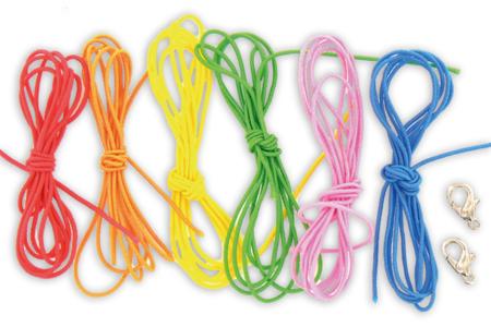 Cordons élastiques colorés + 2 fermoirs  - Set de 6 - Élastique – 10doigts.fr