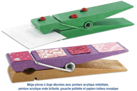 Méga-pinces en bois - Penses-bête – 10doigts.fr