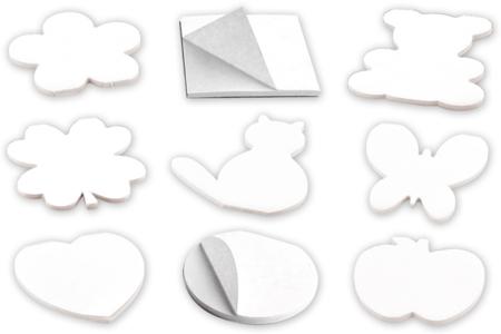 blocs notes de 40 feuilles de papier blanc - Support blanc – 10doigts.fr