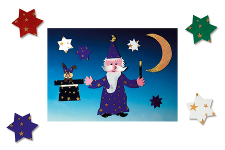 Cartes étoilées, 5 couleurs assorties - Set de 10 - Noël – 10doigts.fr