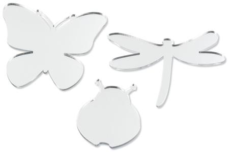 Miroirs adhésifs insectes - Set de 6 - Miroirs – 10doigts.fr