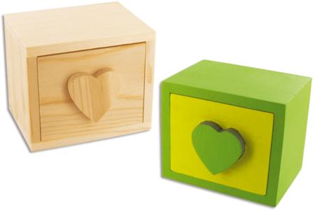 Mini-coffre à bijoux en bois - Boîtes et coffrets – 10doigts.fr