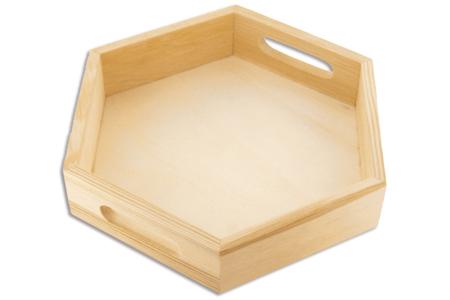 Mini plateau hexagonal - Plateaux en bois – 10doigts.fr