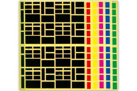 Gommettes rectangles - Set de 1692 - Gommettes géométriques – 10doigts.fr